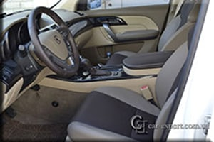 перетяжка салона эко-кожей Acura MDX