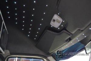 Перетяжка потолка и монтаж светодиодов
