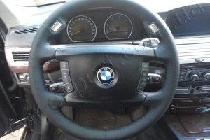 BMW E65 перетяжка руля перфорированной кожей