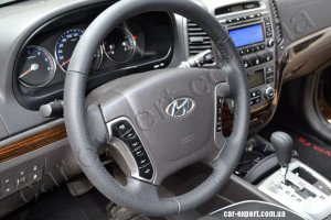 Hyundai Santa Fe перетянуть руль кожей киев