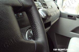 перетянуть руль кожей VW T5
