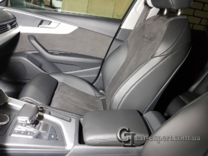 Перетяжка салона кожей и алькантарой Audi A4 b9 фото4