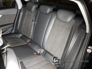 Перетяжка салона кожей и алькантарой Audi A4 b9 фото5