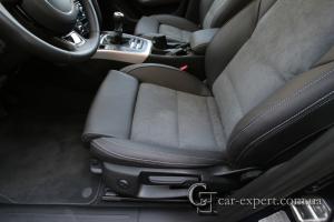 Перетяжка салона кожей и алькантарой Audi A4