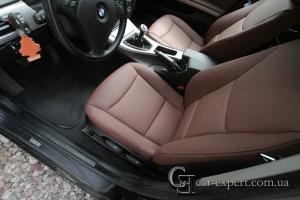 Перетяжка салона натуральной кожей. BMW E90