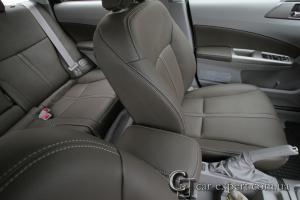 Перетяжка салона кожей Subaru Forester