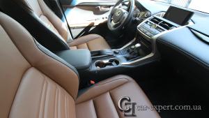 Перетяжка салона Lexus NX натуральной кожей