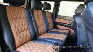 Перетяжка салона кожей Mercedes G500