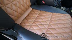 отделка сидений ромбиком Merxedes G500