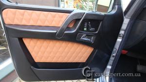 Перетяжка вставок в дверных картах. Mercedes G500