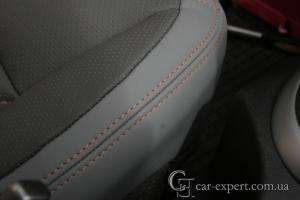 Перетяжка сидений кожей Nissan Qashqai