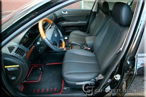 Перетяжка салона Hyundai Sonata кожей