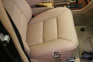 Перетяжка сидений кожей Mercedes w126